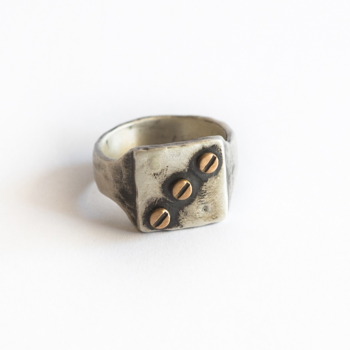 Bonded Rivet Ring [Sterling Silver]