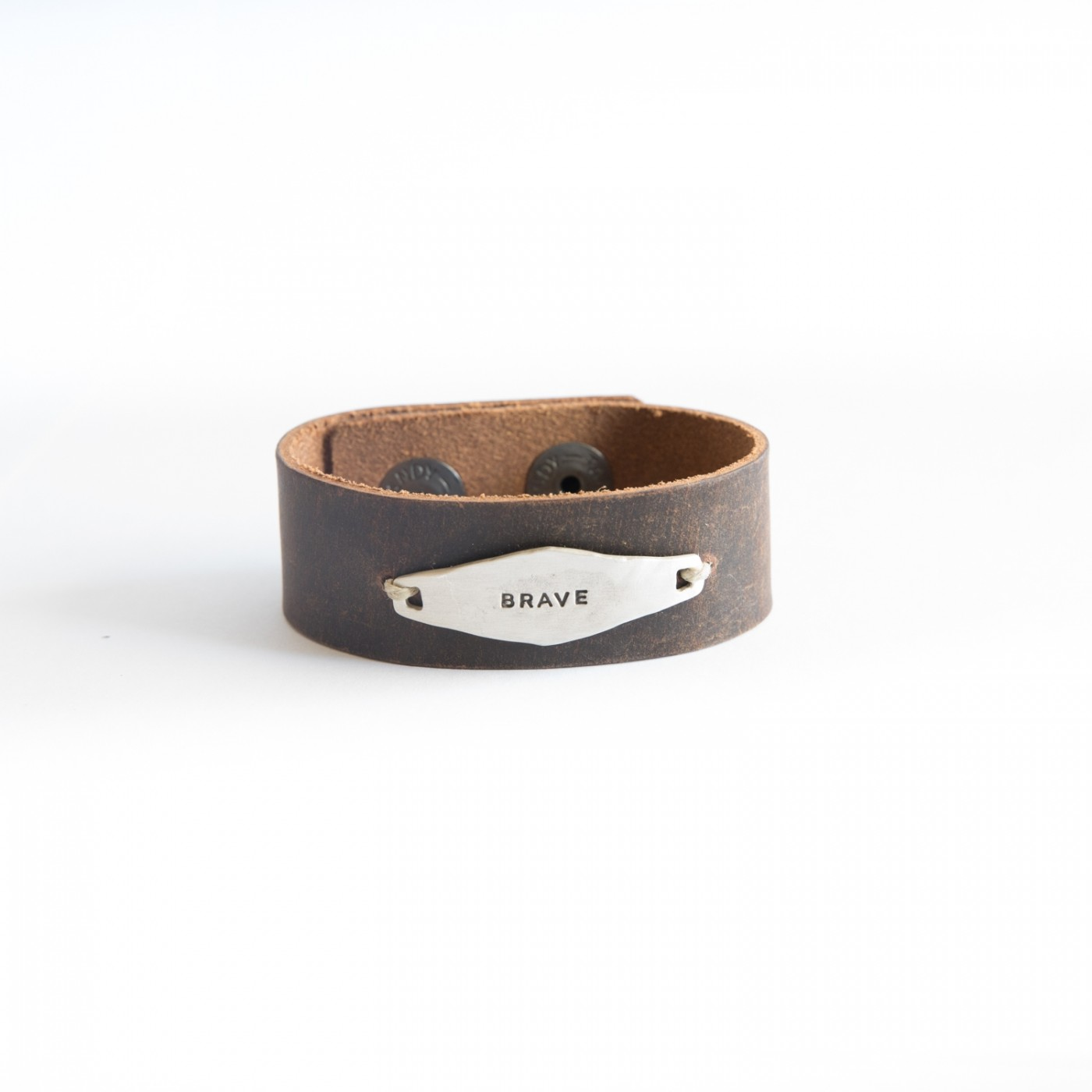 Identity Leather Cuff [Sterling Silver]