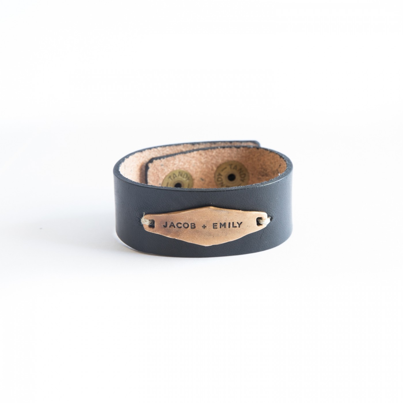 Identity Leather Cuff [Bronze]