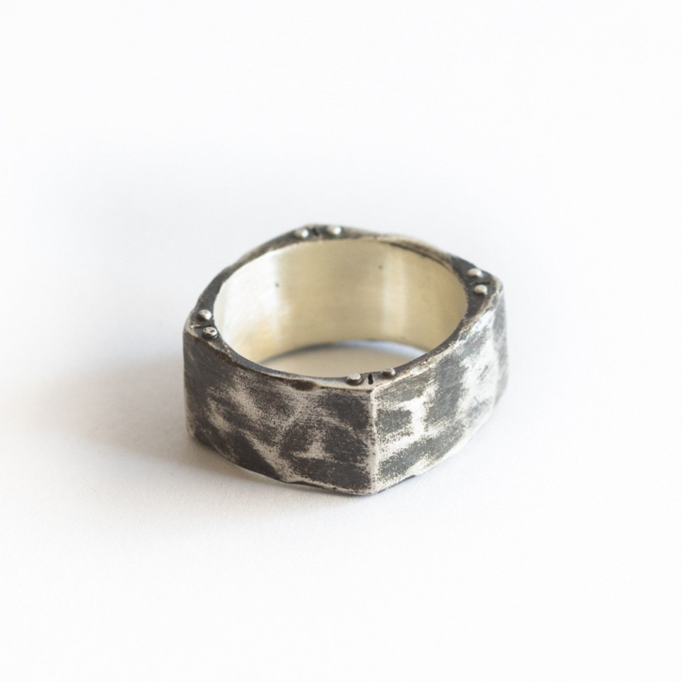 Strong + True Square Ring [Sterling Silver]