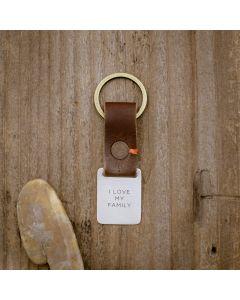 Stability Custom Key Ring [Brown]