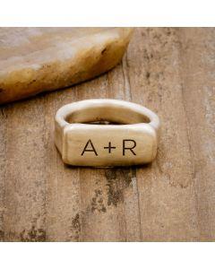 Make Your Mark (10K GOLD) Signet Ring