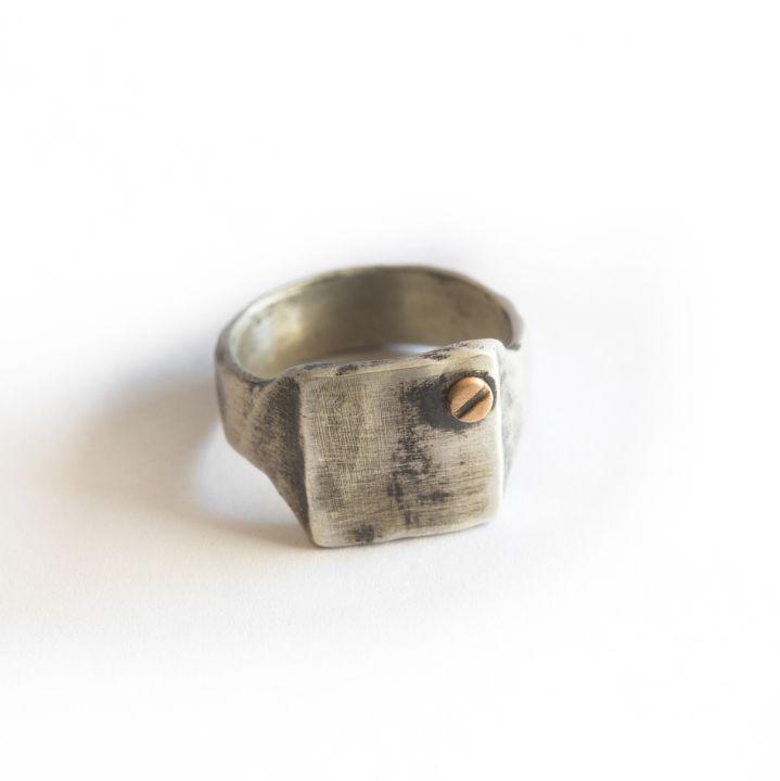 Bonded Rivet Ring [Sterling Silver] - 1 Rivet
