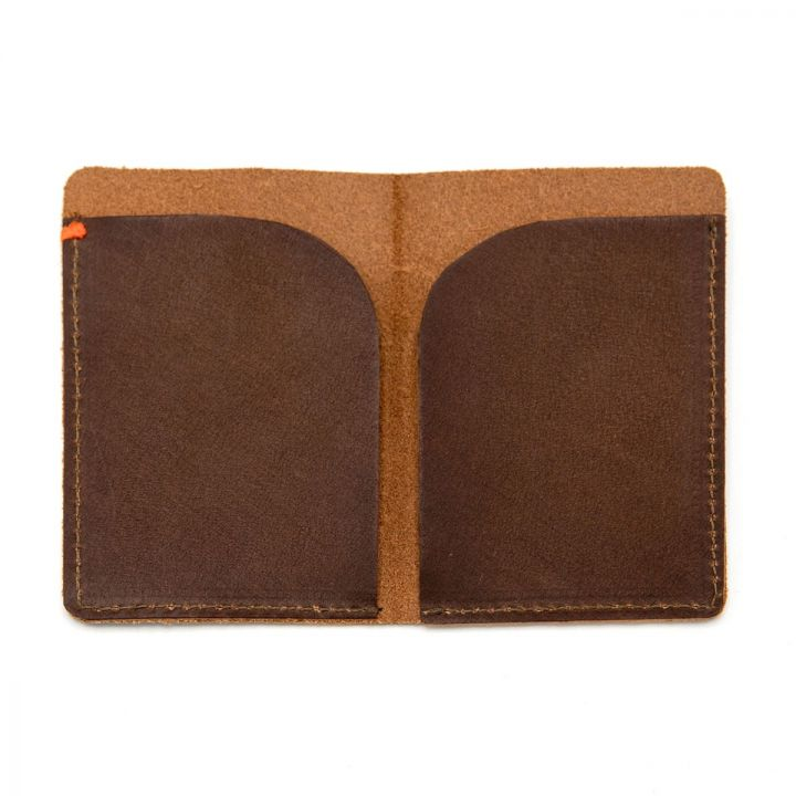 Side by Side Card Holder [Brown]