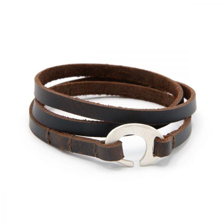 Catcher Leather Bracelet [Sterling Silver]