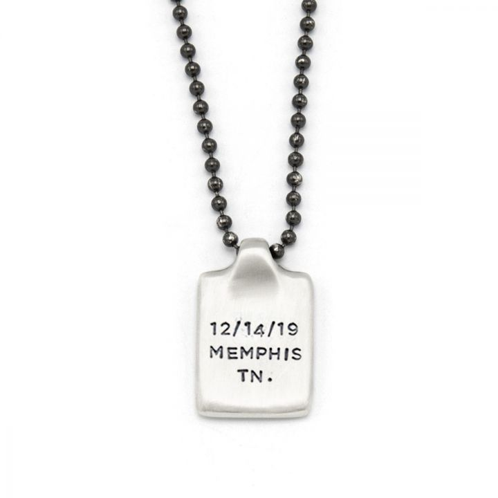 Dog Tag Necklace [Sterling Silver]