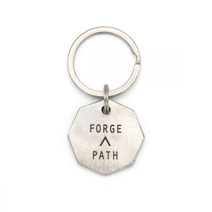 Forge a Path Hex Tag Key Ring [Pewter]