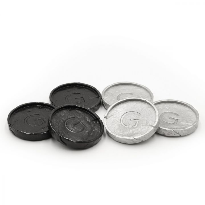 Flying King Checker Pieces [Pewter]