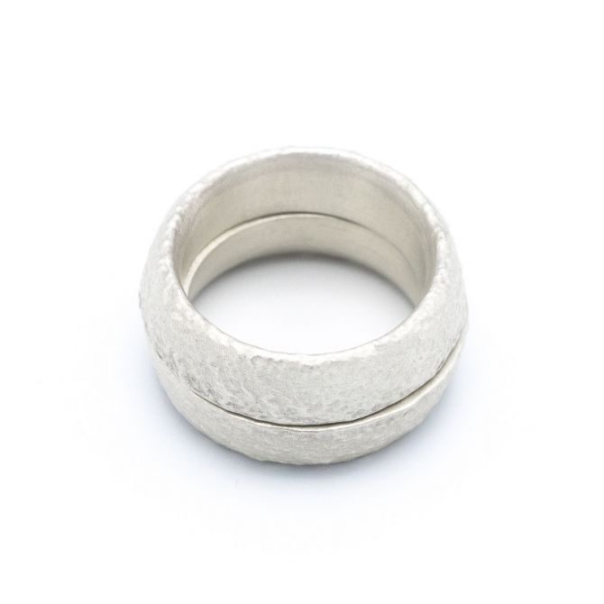 Life Together Ring Pair [Sterling Silver]