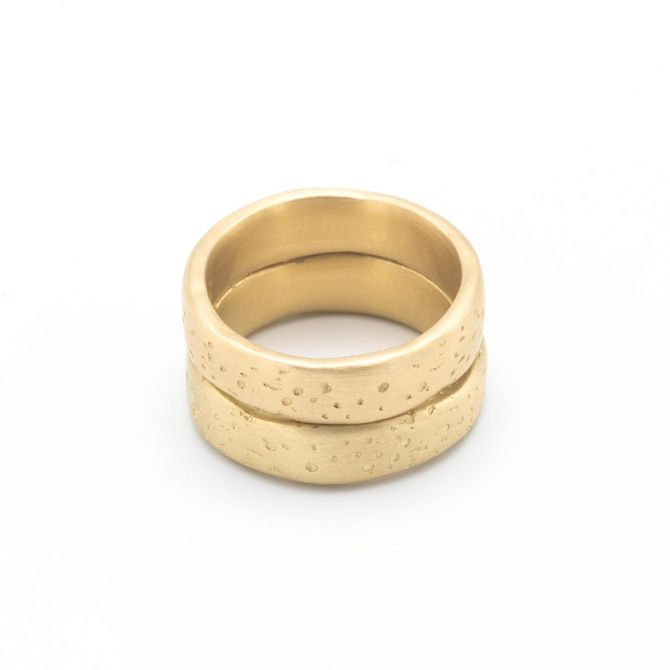 (14K GOLD) WITHSTAND STACKING RING