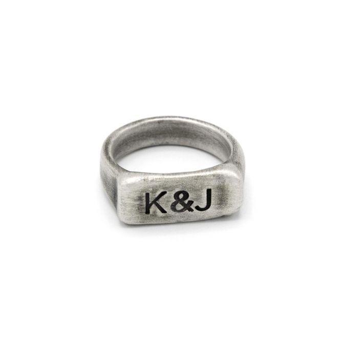 Make Your Mark Signet Ring [Antiqued Sterling Silver]