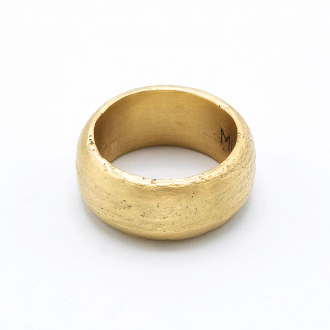 Collide With The Sky Ring [Textured 14k Gold]
