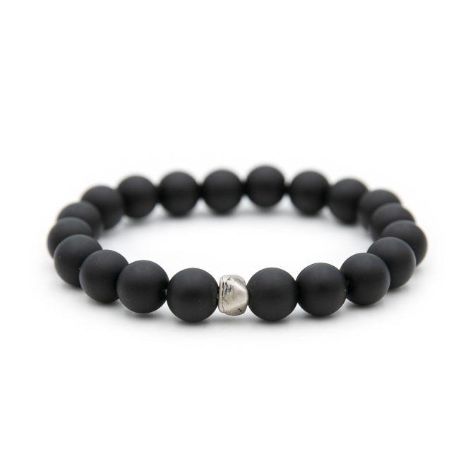 Onyx Beaded Bracelet