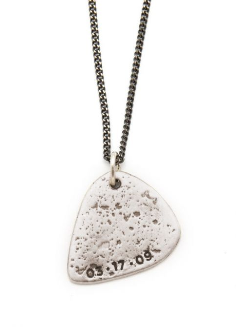 Gritty Music Pick Necklace [Sterling Silver]