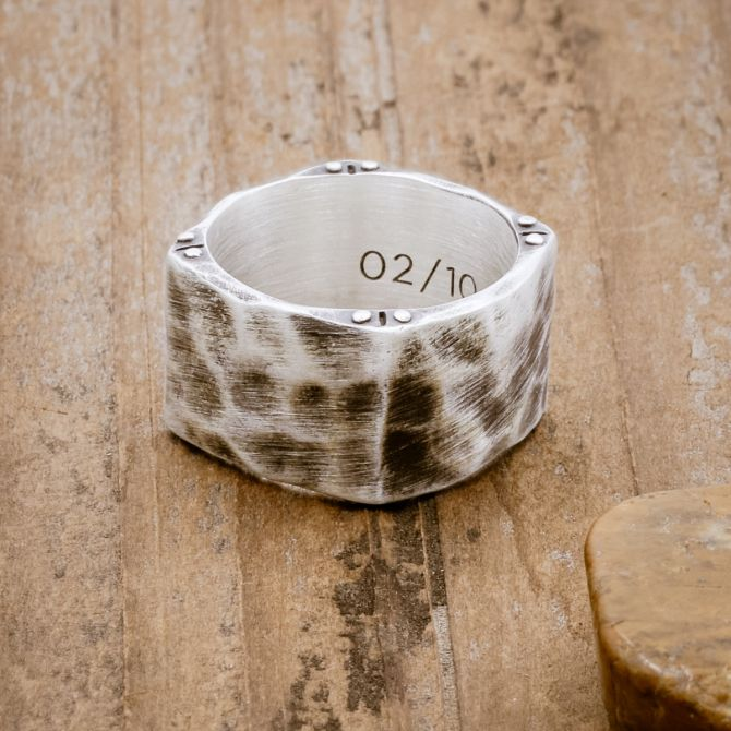Strong + True Wide Ring [Sterling Silver]