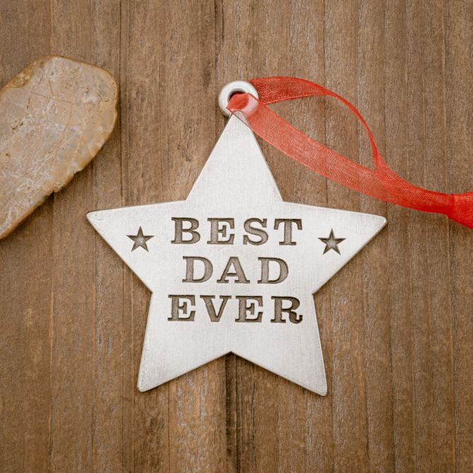 Best Dad Ornament [Pewter]