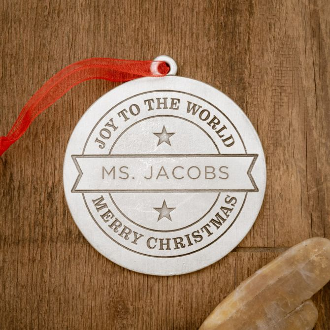 Joy to the World Ornament [Pewter]