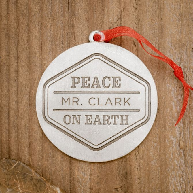 Peace on Earth Ornament [Pewter]