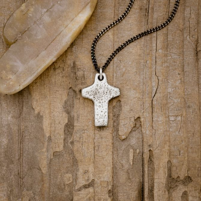Found Cross Necklace [Sterling Silver]