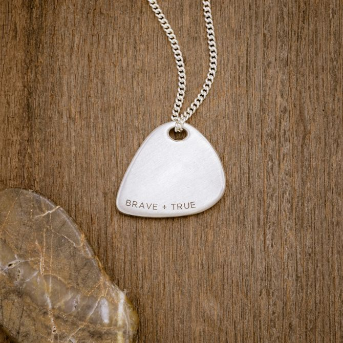 Shaper's Silver Guitar Pick Necklace by Stephen David Leonard