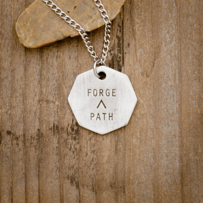 Forge a Path Hex Tag Necklace [Pewter]