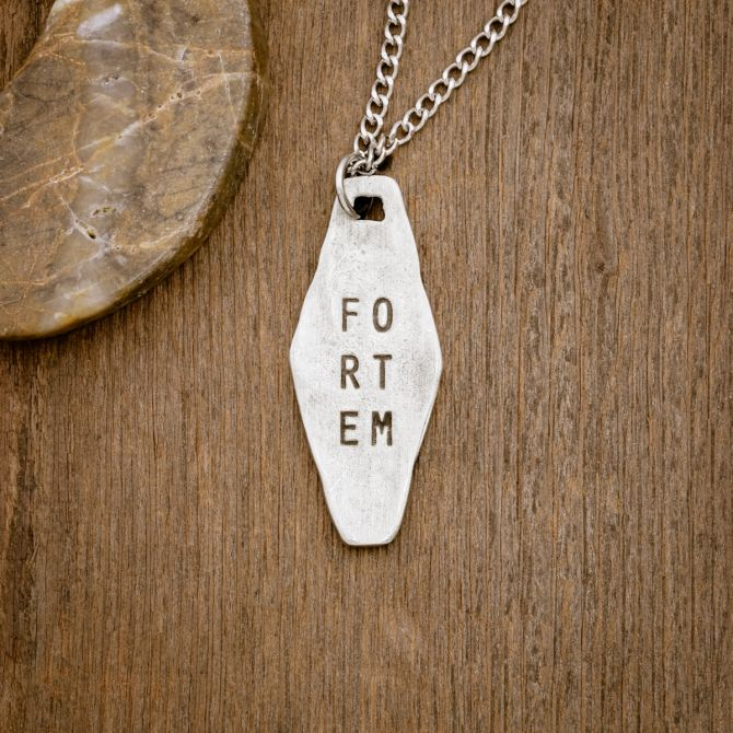Fortem Identity Tag Necklace [Pewter]