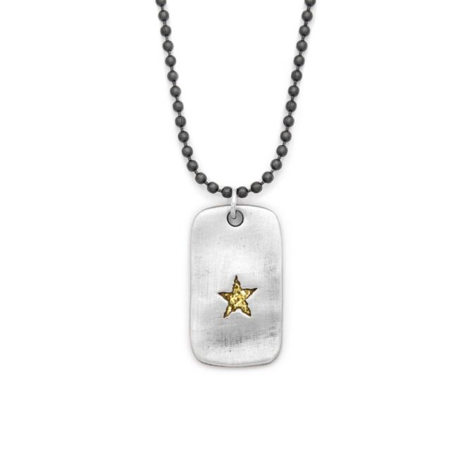 Gary Sinise Foundation Dog Tag Necklace [Sterling Silver]