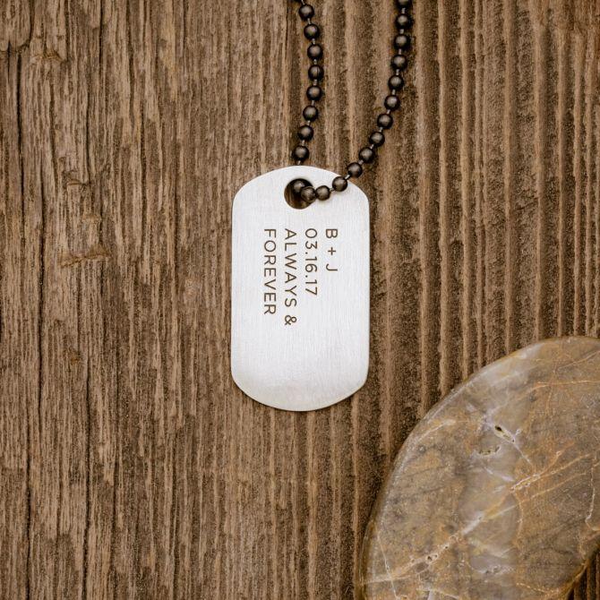 Lasting Bond Dog Tag Necklace Large [Sterling Silver]