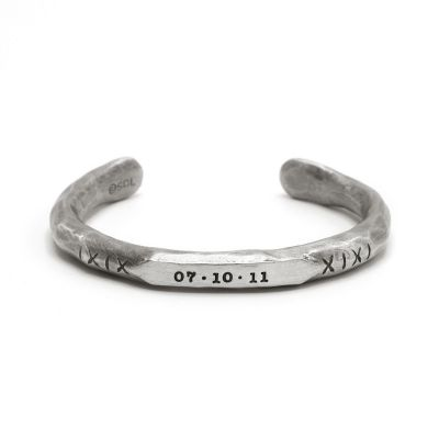 FORGE A PATH HANDCARVED MENS CUFF BRACELET (PEWTER)