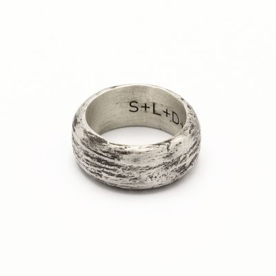 Collide with the Sky Ring [Textured Antiqued Sterling Silver]