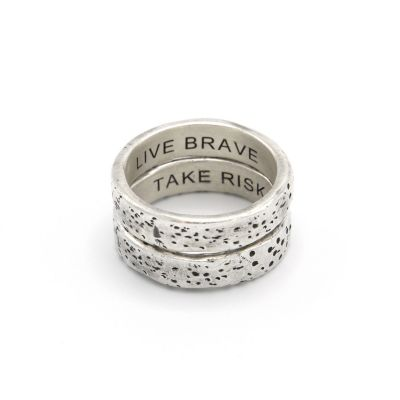 Withstand Stacking Ring [Antiqued Sterling Silver]