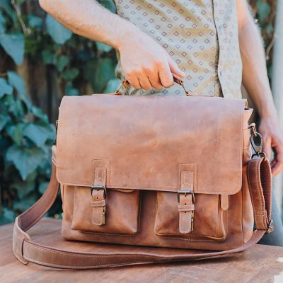 Traveler Messenger Brief [Tan]
