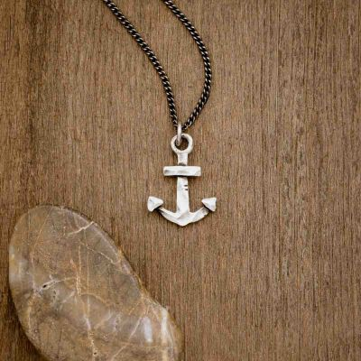 Anchor of my Soul necklace handcrafted in antiqued sterling silver strung on your choice of chain