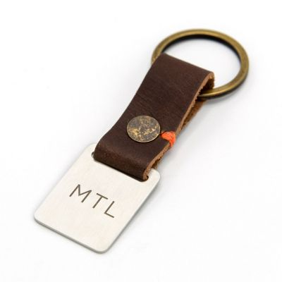 Stability Monogram Key Ring [Brown]