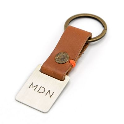 Stability Monogram Key Ring [Tan]