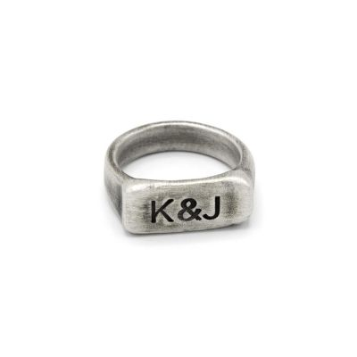 Make Your Mark Silver Signet Ring [Antiqued Sterling Silver]