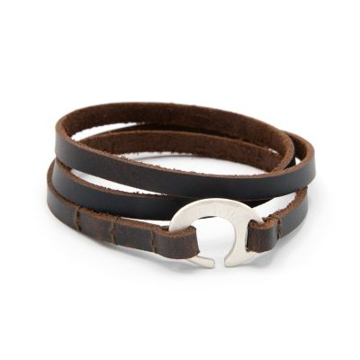 Catcher Leather Bracelet [Sterling Silver]