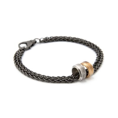 Limitless Bracelet [Black Sterling Wheat Chain]