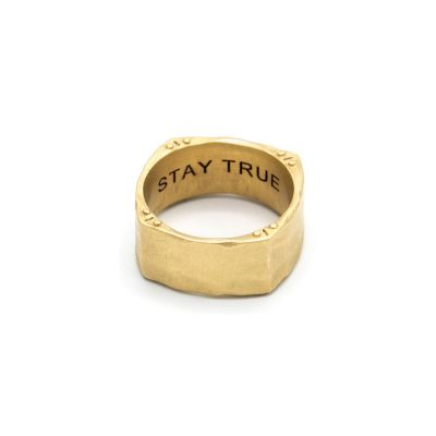 Strong + True Square Ring [14k Gold]