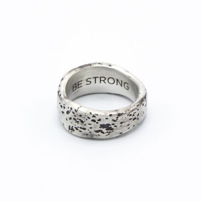 (ANTIQUED STERLING SILVER) WITHSTAND RING