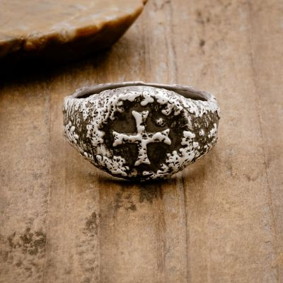 Ancient Cross Signet Ring [Sterling Silver]