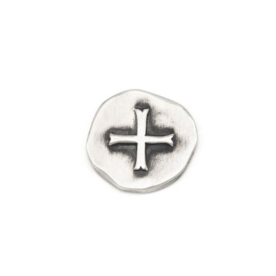 Roman Cross Pocket Coin (Sterling Silver)