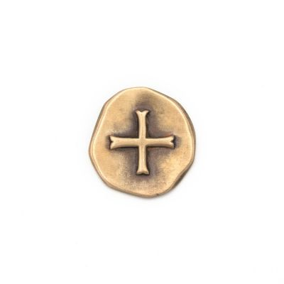 Roman Coin Pocket Cross [Bronze]