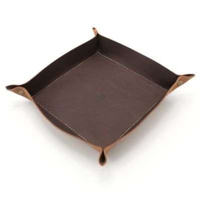 Faithful Leather Desk Valet [Brown]