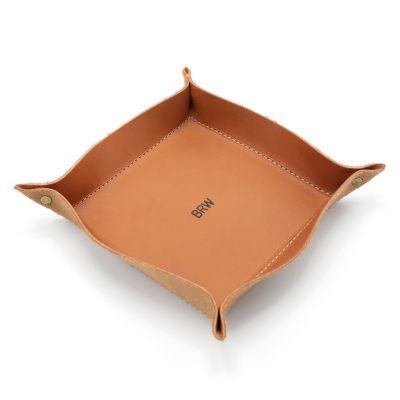 Faithful Leather Desk Valet [Tan]