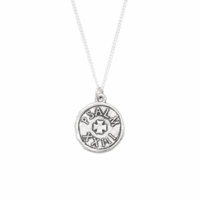Psalm 23 Coin Necklace [Sterling Silver]