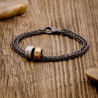 Limitless Bracelet [Black Sterling Wheat Chain]