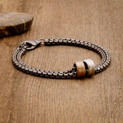 Limitless Bracelet [Black Sterling Round Box Chain]