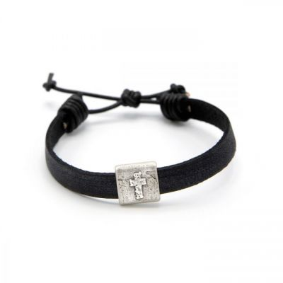 Equitable Cross Bracelet [Black]