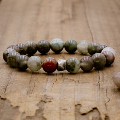 Blood Stone Beaded Bracelet